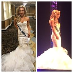33c5916c108 Last night at Miss California USA. Tara Broderick in her Jovani gown.   miabellacouture