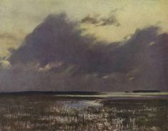 High Waters, Isaac Levitan Original Title: Разлив Date: 1895; Russian Federation