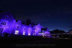 Event at Hempstead House #FusionLighting #ColorWash #LightingDecor