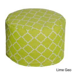 geometric outdoor beanbag pouf lime geo outdoor pouf green patio furniture - Outdoor Pouf