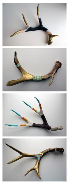 Painted antlers