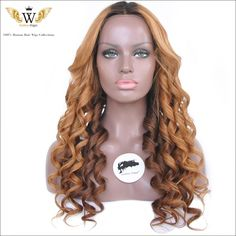 Find More Human Wigs Information about 5A ombre human hair wig 150 density brazilian body wave full lace front wig…
