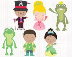 Disney Inspired Sleeping Beauty Digital CLIP ARTS por Digicute