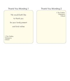 wording for wedding thank you cards