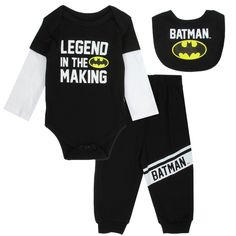 Sizes 0/3 Months 3/6 Months 6/9 Months Made From 100% Cotton Brand DC Comics Batman Officially Licensed DC comics Batman Baby Clothes Free Shipping #HTownKids
