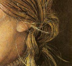Andrew Wyeth - Helga 'Braids' (detail) 1979, dry-brush watercolour.
