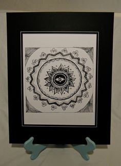 Lotus Zentangle print by Amanda.