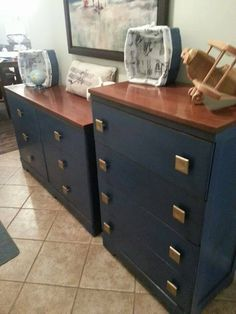 sons big boy furniture in napoleonic blue with barcelona orange accents to go with the vintage aviation theme big boys furniture