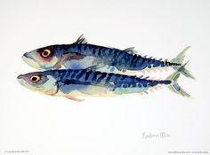 Mackerel. A digital reproduction of a by barbaraallenprints