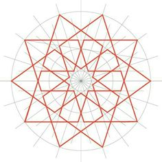 Courses for Beginners Geometric Pattern Design, Geometry Pattern, Geometry Art, Geometric Designs, Geometric Shapes, Sacred Geometry, Islamic Art Pattern, Arabic Pattern, Pattern Art