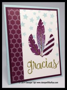 Four Feathers by Wonder Chica - Cards and Paper Crafts at Splitcoaststampers