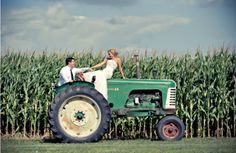 Would love to do this ONLY if I can use a John Deere tractor!) oh I do Farm Wedding, Wedding Pictures, Cute Pictures, Dream Wedding, Wedding Ideas, Wedding Bells, Perfect Wedding, Wedding Stuff, Wedding Planning