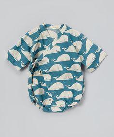 Blue Whale Linen Wrap Bodysuit - Infant | Daily deals for moms, babies and kids