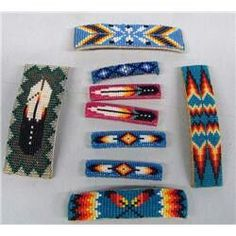 Native American Beaded Earrings | Love the zigzag | Native American Beadwork