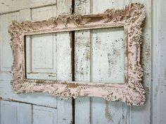 d1be886fc029 Pink and gold ornate frame shabby cottage chic hand painted distressed large  vintage wall hanging home decor anita spero design