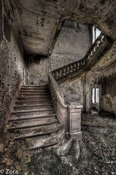 Stairs of God-abandoned castle