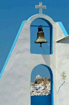 Attraverso il campanile....... Astypalea
