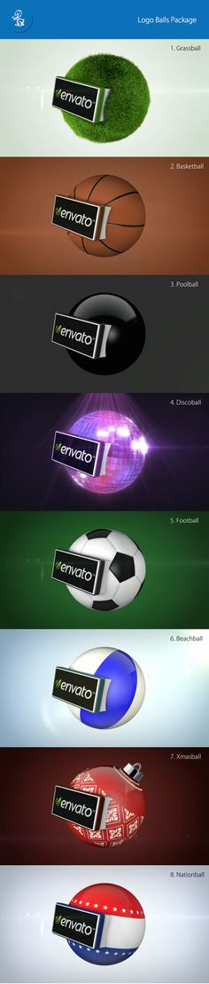 Package of 8 pre-rendered 3D balls for your logo!