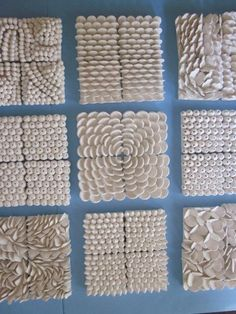 Large Custom Order 40 x 40 Ocean Theme Wall von CoastalCeramics - Ceramic Art Seashell Art, Seashell Crafts, Beach Crafts, Coral Reef Art, Pottery Courses, Pottery Store, Arts And Crafts, Diy Crafts, Paper Crafts