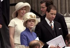 Lady Sarah Chatto and Viscountess Serena Linley Queen Mother's 100thbirthday 2002