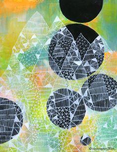 Lisa Congdon - Ghost Mountain, acrylic on masonite panel