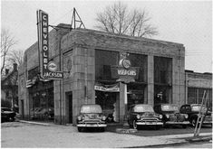 chevrolet dealership black and white photos - Google Search Retro Cars, Vintage Cars, Vintage Auto, Antique Cars, Chevrolet Dealership, Car Chevrolet, Chevy, Auto Dealerships, Vintage Photographs