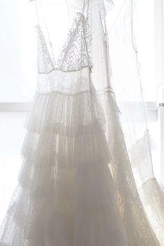 Bridal Trend: Undulating Ruffles / Nevenka White Swan Dress