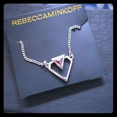 "New Rebecca Minkoff Heart Necklace Cute! Great holiday "" stuffer. "" Price is firm, but ask for discounted shipping! Rebecca Minkoff Jewelry Necklaces"