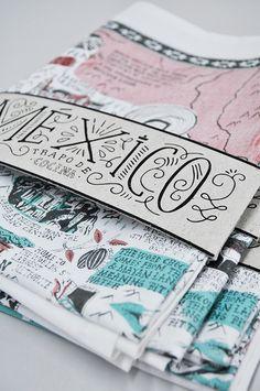 lettering, packaging
