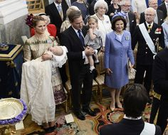 Prince Nicolas of Sweden was baptised on Sunday at midday