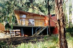 "Eco-style Shack By Eco Style - Architecture & Interiors. ""Specialising in people focused design for disability and sustainability projects"" Sustainability Projects, Architecture Interiors, Beautiful Buildings, Tasmania, Disability, Shed, Southern, Cabin, House Styles"