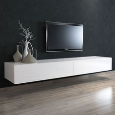 BRANDO Floating Entertainment Unit 220cm - Cityside Furniture