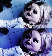 seed of chucky Scary Movies, Old Movies, Tiffany Bride Of Chucky, Chucky Movies, Movie Memes, Funny Memes, Hilarious, Childs Play Chucky, Horror Photos