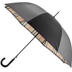 Burberry Regent Walking Umbrella ($340) ❤ liked on Polyvore featuring accessories, umbrellas, camel, burberry and burberry umbrella