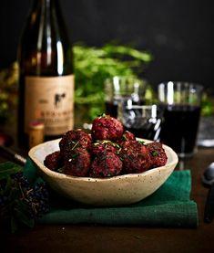 Punajuuri-lihapullat | Liha, Arjen nopeat | Soppa365