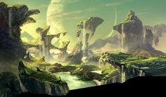 Image result for alien planet concept art