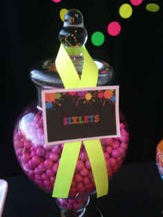 Neon / Glow in the Dark Birthday Party Ideas | Photo 3 of 19