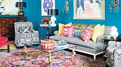 Paint to make your room to create a custom feel // Living Rooms