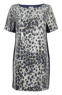 Halona blue leopard dress