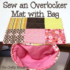 Tutorial: Sew an Overlocker Mat with Bag to catch the scraps #serger #sewing #tutorial