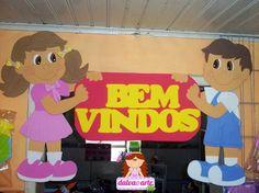 Moldes mural em EVA bem vindos