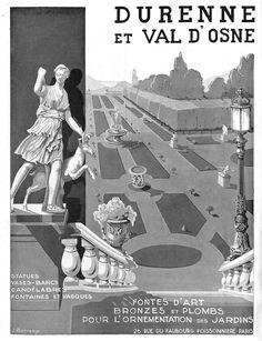 DURENNE & VAL D' OSNE FONTES BRONZES PUBLICITE ADVERTISING 1932   eBay! Statues, Vintage Shops, Vintage Antiques, Vases, Vintage Photos Women, Bronze, Vintage Crafts, Garden Ornaments, French Vintage