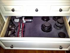 Clever camera storage, for if and when we get a studio. One for Lindsay and one for me.