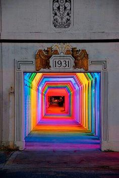 Multi-Coloured Neon Lights.
