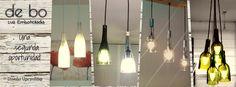 de bo se dedica a reinventar la botella de vidrio transformándola en lámparas funcionales, a través del arte y diseño. Track Lighting, Ceiling Lights, Home Decor, Environment, Art, Decoration Home, Room Decor, Outdoor Ceiling Lights, Home Interior Design