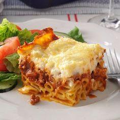 Nikki's Perfect Pastitsio Recipe from Taste of Home -- shared by Nikki Tsangaris of Westfield, Indiana