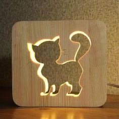 Светильник в детскую Кот, Детский ночник Котик