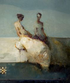 Danny McCaw. Gossip, oil on canvas, 2011.
