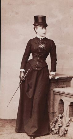 Princess Isabella of Bavaria, later Duchess of Genoa, in riding habit. 1880s