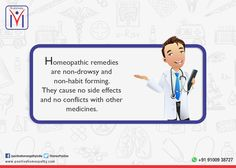 Did you know? #Homeopathic remedies are non-drowsy and non-habit forming. They cause no #sideeffects and no conflicts with other #medicines.